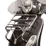 Vespa GT200 Racks and Chrome